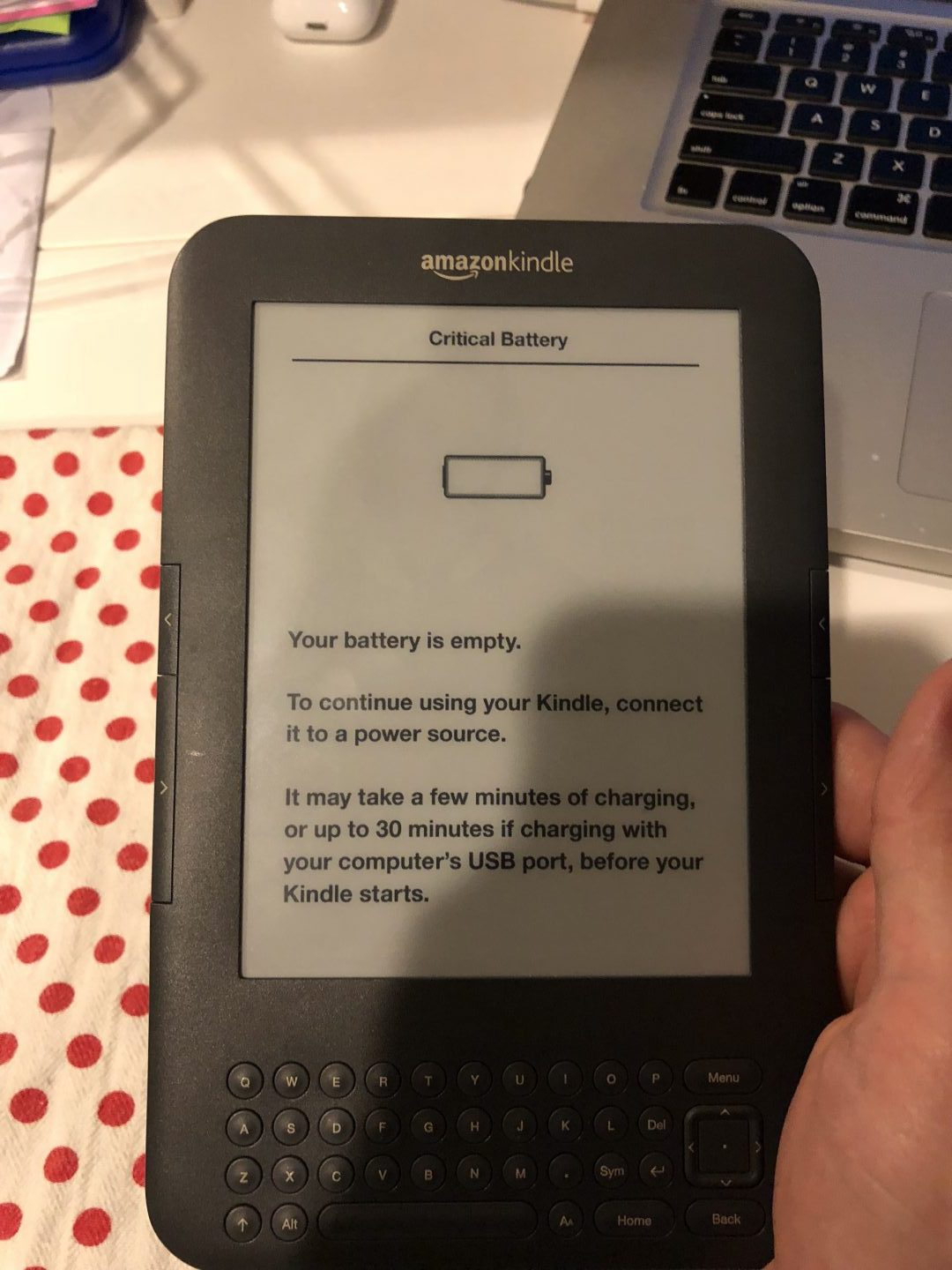 How to fix a Critical Battery error on Kindle Keyboard devices | OG